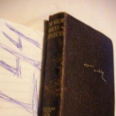 Libros antiguos: ANTIGUO LIBRO OBRAS COMPLETAS - OSCAR WILDE - AGUILAR . Lote 43988047