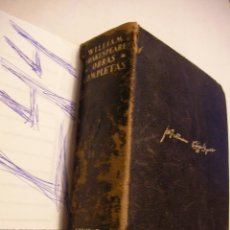 Libros antiguos: ANTIGUO LIBRO OBRAS COMPLETAS - WILLIAM SHAKESPEARE - AGUILAR. Lote 181809705