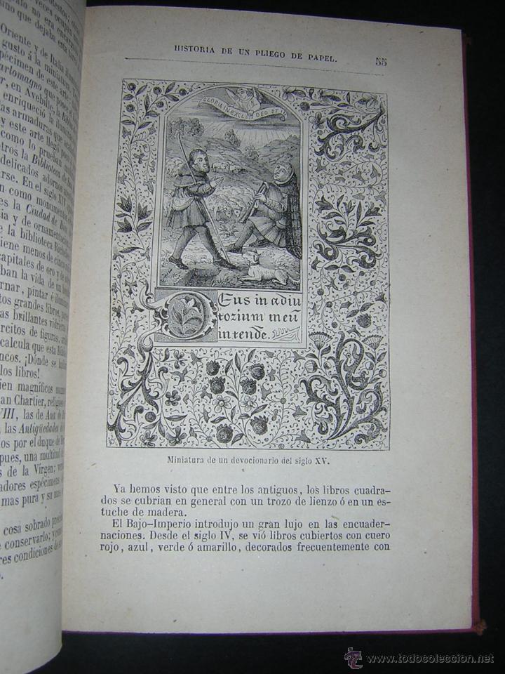 Libros antiguos: 1880 - PIZZETA - HISTORIA DE UN PLIEGO DE PAPEL - BIBLIOTECA CIENTÍFICA RECREATIVA - Foto 3 - 43995427