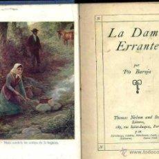 Libros antiguos: PIO BAROJA : LA DAMA ERRANTE (NELSON, C. 1925). Lote 222345027