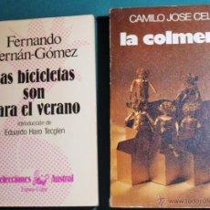 Libros antiguos: 2 LIBROS, LA COLMENA DE CAMILO J. CELA Y LAS BICICLETAS SON PARA EL VERANO DE F.FERNAN GOMEZ, IMPECA. Lote 44011922