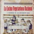 Libros antiguos: VANDER, ADR: COCINA VEGETARIANA RACIONAL Y ENSEÑANZA DE UNA ALIMENTACIÓN SANA.. Lote 44043339