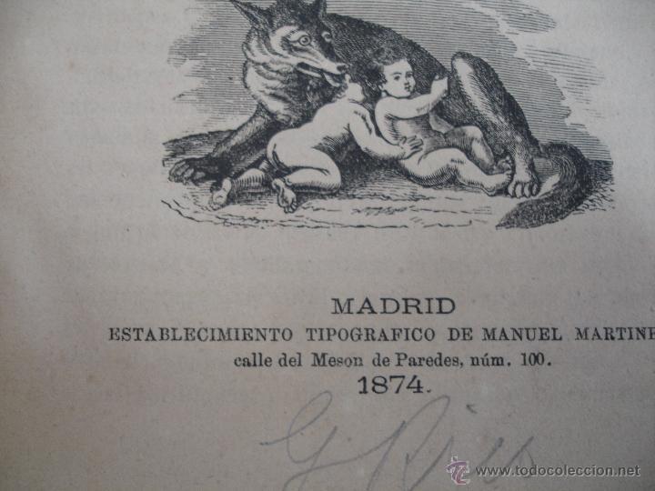 Libros antiguos: Apuntes para un Curso de Literatura Latina. Tomo II José canaleja y Mendez. - Foto 5 - 44044055