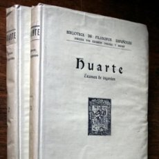 Libros antiguos: HUARTE -1930 - EXAMEN DE INGENIOS PARA LAS CIENCIAS - 2 TOMOS. Lote 44057734