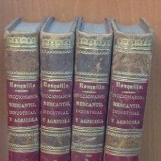 Libros antiguos: DICCIONARIO DE MATERIA MERCANTIL, INDUSTRIAL Y AGRÍCOLA QUE CONTIENE LA INDICACION,... 1851-1857. . Lote 44073714