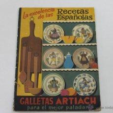Livres anciens: LA EXCELENCIA DE LAS RECETAS ESPAÑOLAS, ARTIACH. Lote 44079487