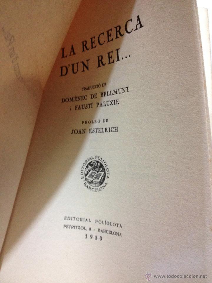 Libros antiguos: A la recerca dun Rei... Leonardon. Any 1930. Les pàgines encara sense obrir (intonso). 229 pag - Foto 2 - 44144123