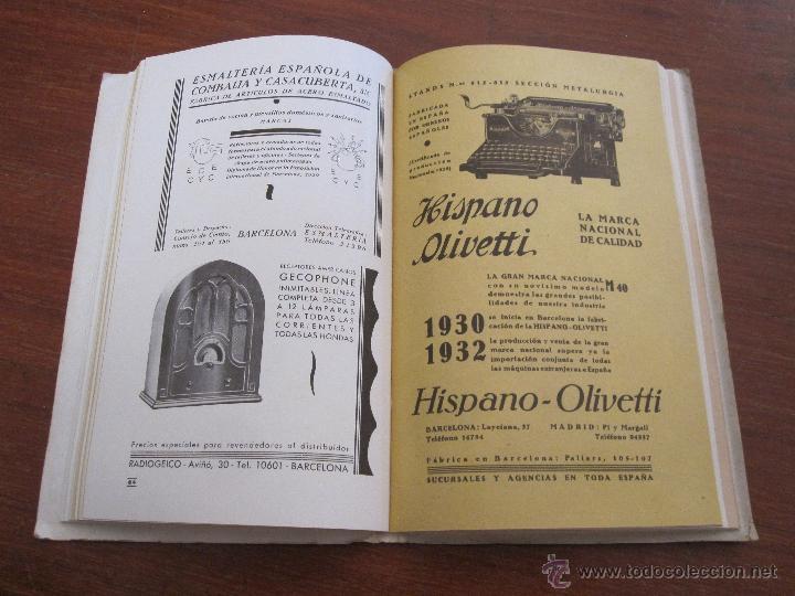 Libros antiguos: VI FERIA DE BARCELONA 1933 - CATÁLOGO OFICIAL NACIONAL INTERNACIONAL - Foto 3 - 44170333