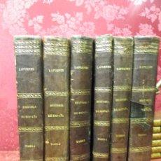 Libros antiguos: HISTORIA GENERAL DE ESPAÑA MODESTO LAFUENTE 6 TOMOS 1877. Lote 44304453