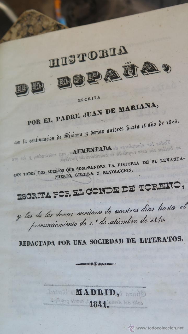 Libros antiguos: 1841.- HISTORIA DE ESPAÑA. MARIANA. CONTINUADA Y AUMENTADA. 12 TOMOS. COMPLETA - Foto 3 - 44354579