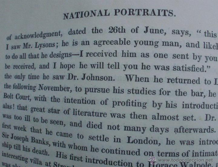 Libros antiguos: Libro National Portrait Gallery, autor William Jerdan, Volúmen 5, año 1834, Fisher, Son & Jackson - Foto 10 - 44357103