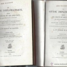 Libros antiguos: LE GUIDE DIPLOMATIQUE, LE BN CHARLES DE MARTENS, DOS TMS, LEIPZIG 1866. Lote 44370248