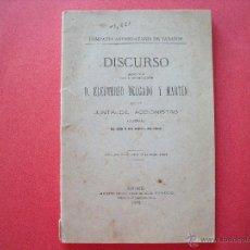 Libros antiguos: ELEUTERIO DELGADO Y MARTIN.-DISCURSO.-COMPAÑIA ARRENDATARIA DE TABACOS.-MADRID.-AÑO 1905.. Lote 44379503
