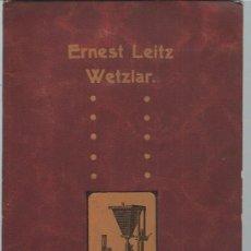 Libros antiguos: Nº43G, APPAREILS MICROPHOTOGRAPHIQUES, ERNEST LEITZ, FABRIQUE D´INSTRUMENTS D´OPTIQUE, WETZLAR. Lote 164527842