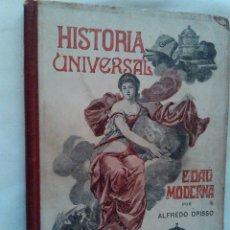Libros antiguos: ANTIGUO LIBRO HISTORIA UNIVERSAL. EDAD MODERNA COMTEMPORANEA162 GRABADOS ILUSTRACIONES OPISSO 1917. Lote 44428731