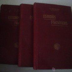 Libros antiguos: ESTUDIOS FILOSOFICOS SOBRE EL CRISTIANISMO.3 TOMOS.AÑO 1901.A.NICOLAS. Lote 44744837