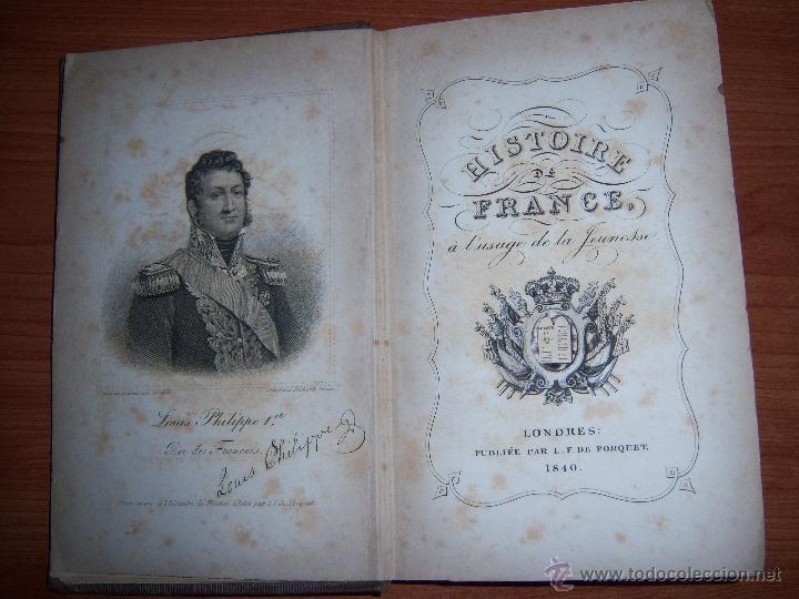 HISTOIRE DE FRANCE - L.P.R. FENWICK DE PORQUET AÑO 1840 (Libros Antiguos, Raros y Curiosos - Historia - Otros)