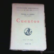 Livros antigos: TEIXEIRA DE QUEIROZ. CUENTOS. CALPE 1920. Lote 44785507