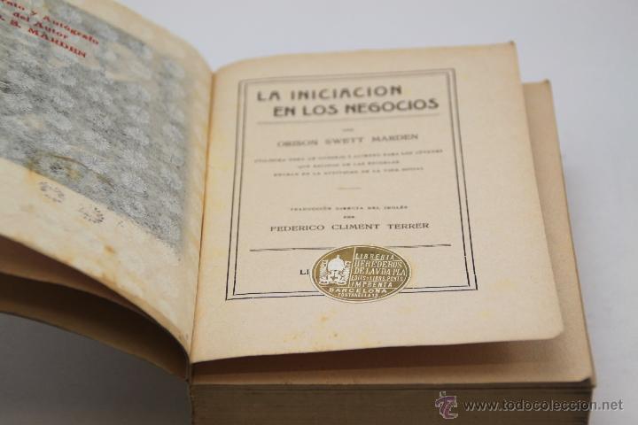 Libros antiguos: ORISON SWETT MARDEN. LA INICIACIÓN EN LOS NEGOCIOS. 1915 - Foto 3 - 44785961
