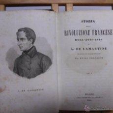 Libros antiguos: STORIA DELLA RIVOLUZIONE FRENCESE.-A.DE LAMARTINE. Lote 44797273