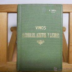 Libros antiguos: VINOS,ALCOHOLES,ACEITES Y LICORES.- ROSENDO BOFILL. Lote 44797752