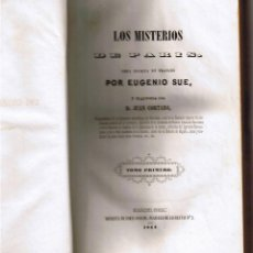 Libros antiguos: LOS MISTERIOS DE PARIS - EUGENIO SUE - TOMO PRIMERO - 1844 -. Lote 44797778