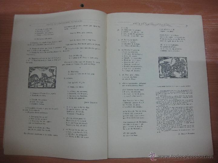 Libros antiguos: ARXIU DE TRADICIONS POPULARS. VALERI SERRA I BOLDU. BARCELONA FASCICLE II. - Foto 3 - 44853504
