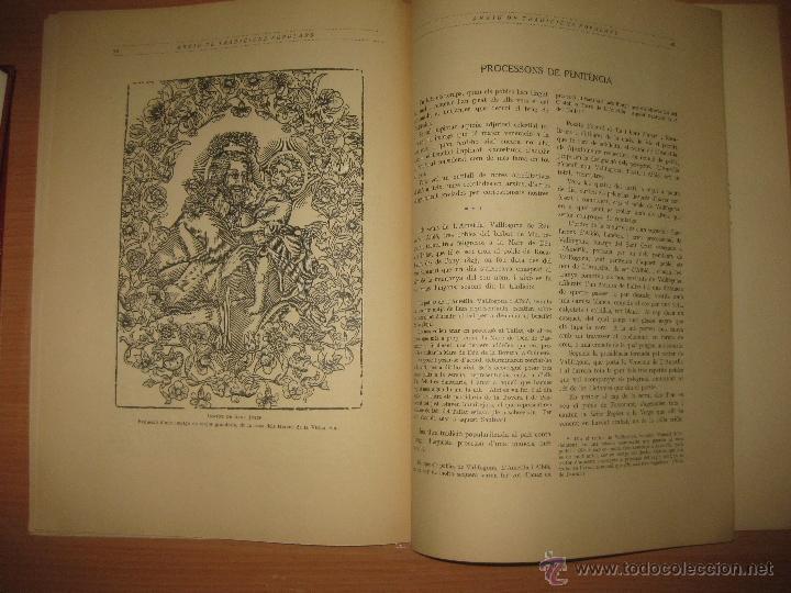 Libros antiguos: ARXIU DE TRADICIONS POPULARS. VALERI SERRA I BOLDU. BARCELONA FASCICLE II. - Foto 5 - 44853504
