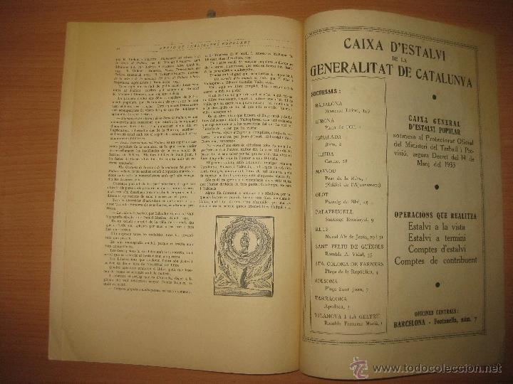 Libros antiguos: ARXIU DE TRADICIONS POPULARS. VALERI SERRA I BOLDU. BARCELONA FASCICLE II. - Foto 6 - 44853504
