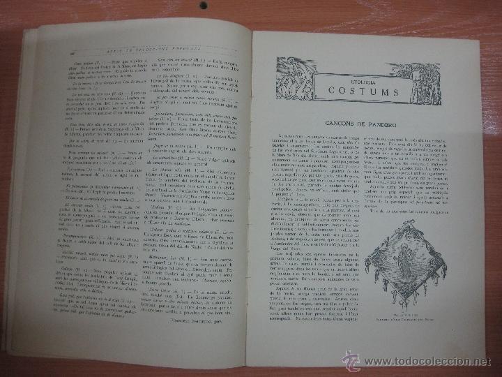 Libros antiguos: ARXIU DE TRADICIONS POPULARS. VALERI SERRA I BOLDU. BARCELONA FASCICLE VI. - Foto 3 - 44853533