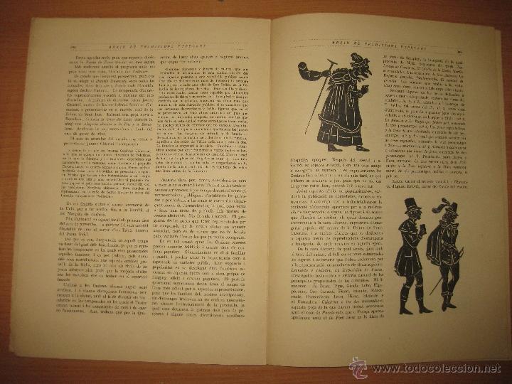 Libros antiguos: ARXIU DE TRADICIONS POPULARS. VALERI SERRA I BOLDU. BARCELONA FASCICLE VI. - Foto 4 - 44853533