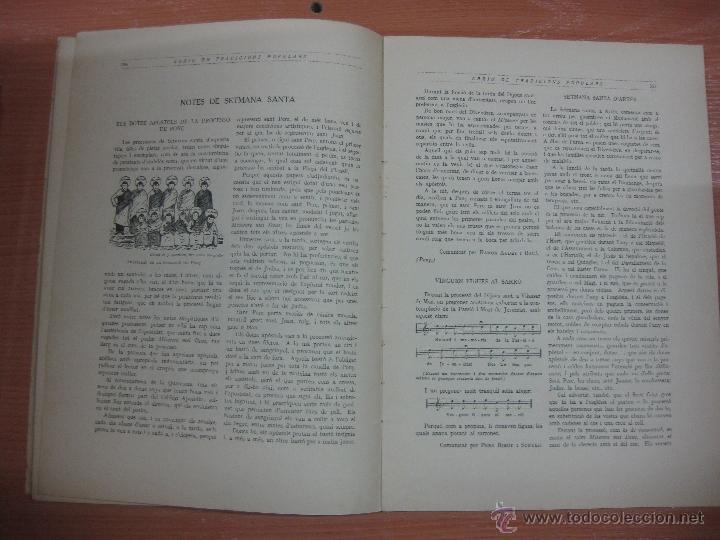 Libros antiguos: ARXIU DE TRADICIONS POPULARS. VALERI SERRA I BOLDU. BARCELONA FASCICLE VI. - Foto 5 - 44853533