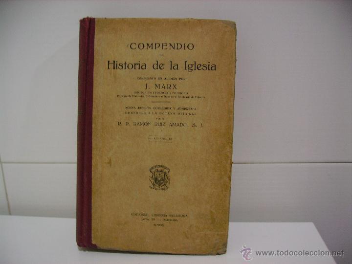 COMPENDIO DE HISTORIA DE LA IGLESIA (Libros Antiguos, Raros y Curiosos - Historia - Otros)