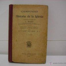 Libros antiguos: COMPENDIO DE HISTORIA DE LA IGLESIA. Lote 44880035