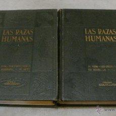 Livros antigos: LAS RAZAS HUMANAS. 1ª EDICIÓN. 1928. 2 TOMOS (COMPLETA). LLENO DE FOTOS E ILUSTRACIONES. . Lote 44964556