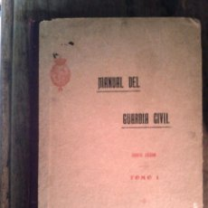 Libros antiguos: MANUAL DEL GUARDIA CIVIL 4ª EDICION TOMO I. 1923 . Lote 45018249