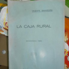 Libros antiguos: LA CAJA RURAL - MONDOÑEDO - VICENTE SAAVEDRA. Lote 74221154