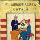 Libros antiguos: GIL DE RUSENA : EL MEMORIALISTA CATALÀ (BONAVIA, 1920). Lote 45243157