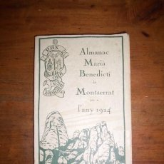Libros antiguos: ALMANAC MARIÀ-BENEDICTÍ DE MONTSERRAT PER A L'ANY 1924 . Lote 45273238