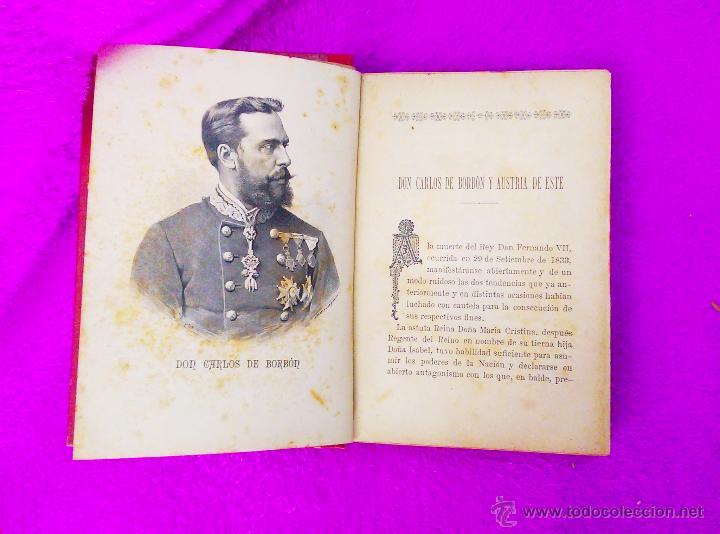 Libros antiguos: ALBUM DE PERSONAJES CARLISTAS, D. F DE P. O. 1887-1890 - Foto 3 - 45290204