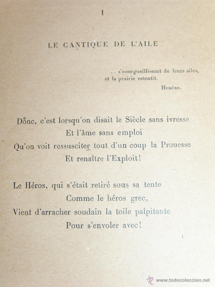 Libros antiguos: LIBRO: LE CANTIQUE DE LAILE.EDMOND ROSTAND.POÈMES. - Foto 4 - 45356684