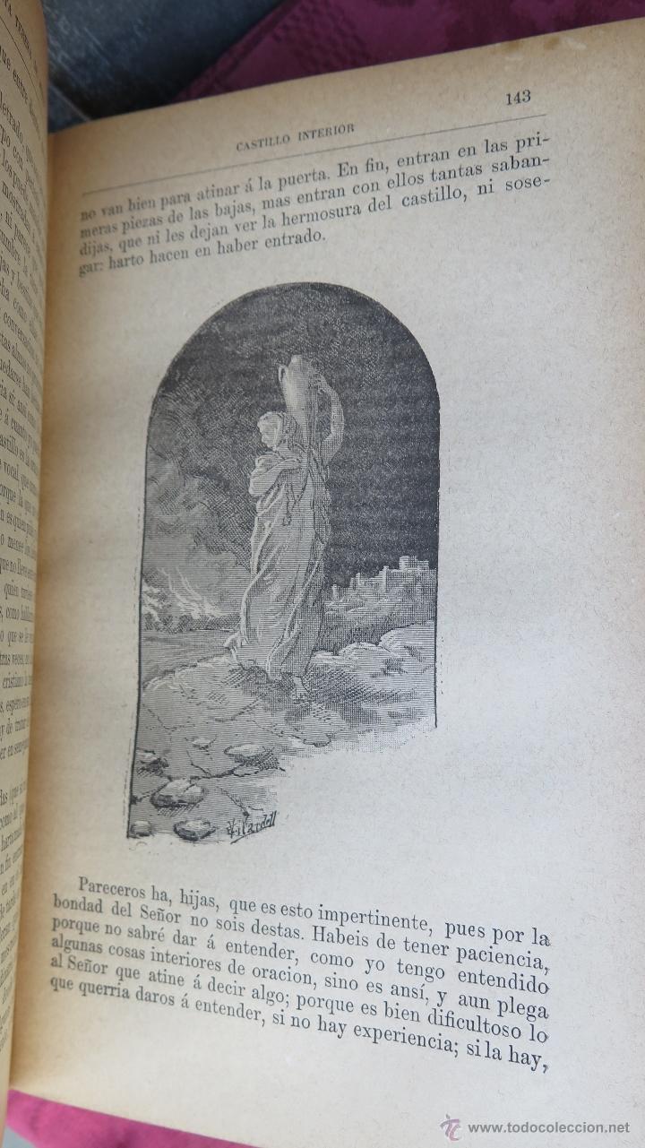 Libros antiguos: 18??.- OBRAS ESCOGIDAS DE SANTA TERESA DE JESUS. ANGEL LASSO DE LA VEGA. ILUSTRADO CON GRABADOS - Foto 4 - 45432915
