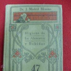 Libros antiguos: HIGIENE DE LOS ALIMENTOS Y BEBIDAS . J. MADRID MORENO. MANUALES GALLACH. Lote 45459318