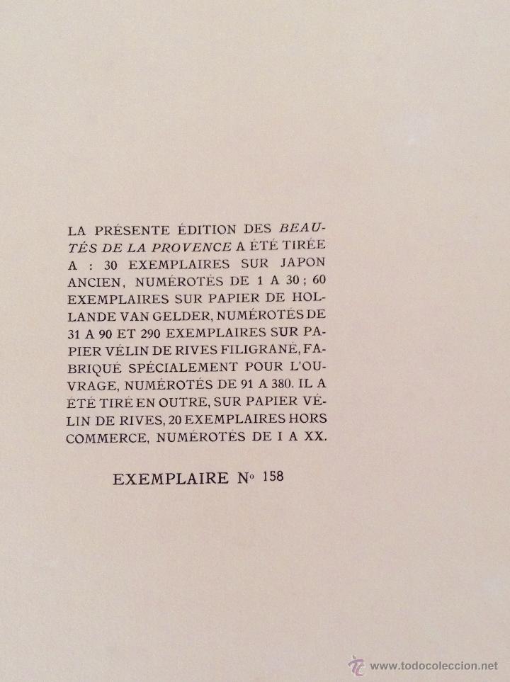 Libros antiguos: BEAUTES DE LA PROVENCE 50 GRABADOS DE VALENTINE DUPRÉ EDICION DE BIBLIOFILO 1933 - Foto 4 - 45462692