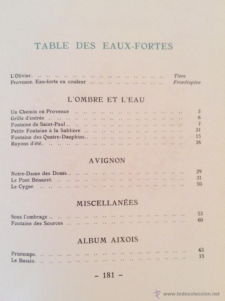 Libros antiguos: BEAUTES DE LA PROVENCE 50 GRABADOS DE VALENTINE DUPRÉ EDICION DE BIBLIOFILO 1933 - Foto 10 - 45462692
