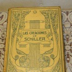 Libros antiguos: LAS CREACIONES DE SCHILLER.---MASSAGUER, ENRIQUE. Lote 45483675