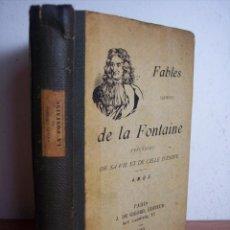 Libros antiguos: FABLES DE LA FONTAINE (LIBRO EN FRANCES) AÑO 1919. Lote 45560217