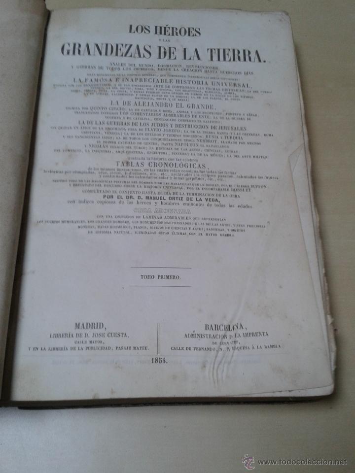 Libros antiguos: LOS HÉROES Y LAS GRANDEZAS DE LA TIERRA, 8 TOMOS. AÑO 1854 - Foto 12 - 45573799