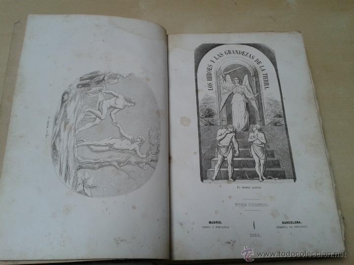 Libros antiguos: LOS HÉROES Y LAS GRANDEZAS DE LA TIERRA, 8 TOMOS. AÑO 1854 - Foto 13 - 45573799
