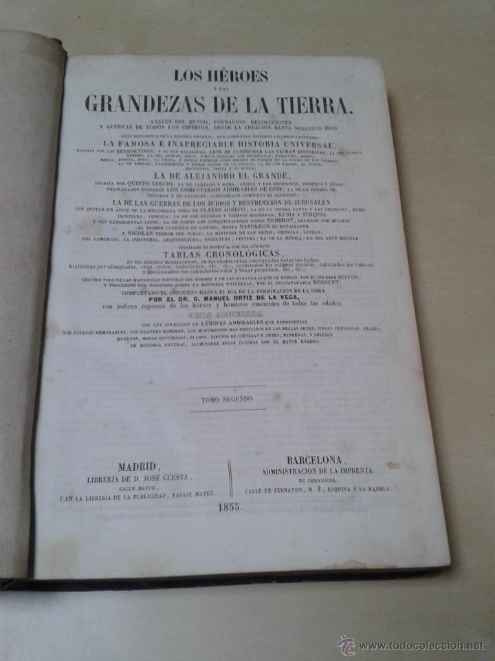 Libros antiguos: LOS HÉROES Y LAS GRANDEZAS DE LA TIERRA, 8 TOMOS. AÑO 1854 - Foto 27 - 45573799
